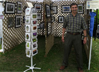 Photograph of Scott Ash's photo display of travel photography